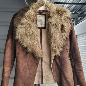 Vegan suede Guess coat